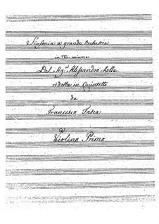 Симфония ми минор, BI 537: Версия для струнного квинтета by Алессандро Ролла