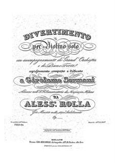 Дивертисмент для скрипки с оркестром (или фортепиано), BI 477: Партии by Алессандро Ролла