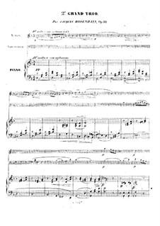 Фортепианное трио No.2 ре минор, Op.32: Партитура, Партии by Якоб Розенгайн