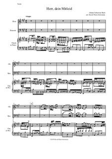 Рождественская оратория, BWV 248: Herr dein Mitleid, arranged for oboe, bassoon and organ (or piano) by Иоганн Себастьян Бах