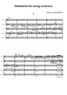 Симфониетта для струнного оркестра: Симфониетта для струнного оркестра by Георгий Гачечиладзе