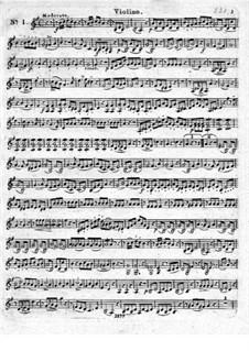 Три блестящих квартета для флейты и струнных, Op.19: Партия скрипки by Леопольд Хирш