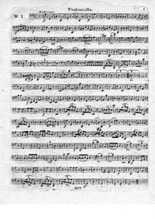 Три блестящих квартета для флейты и струнных, Op.19: Партия виолончели by Леопольд Хирш