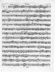 Три блестящих квартета для флейты и струнных, Op.19: Партия альта by Леопольд Хирш