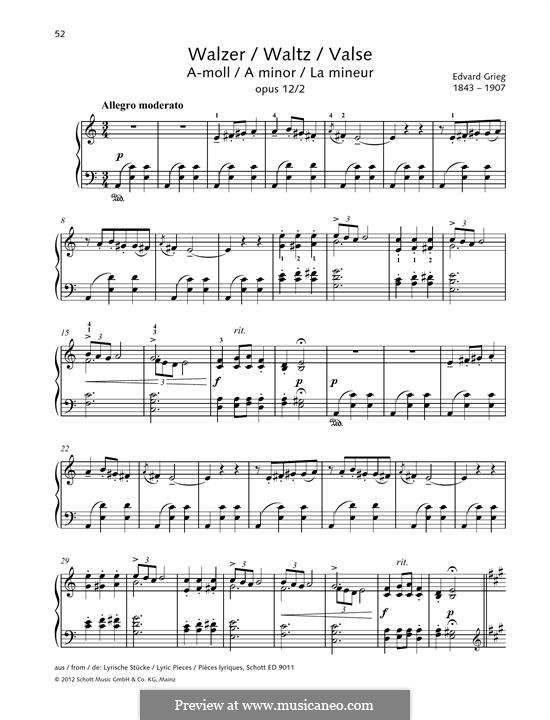 Лирические пьесы, Op.12: No.2 Вальс by Эдвард Григ