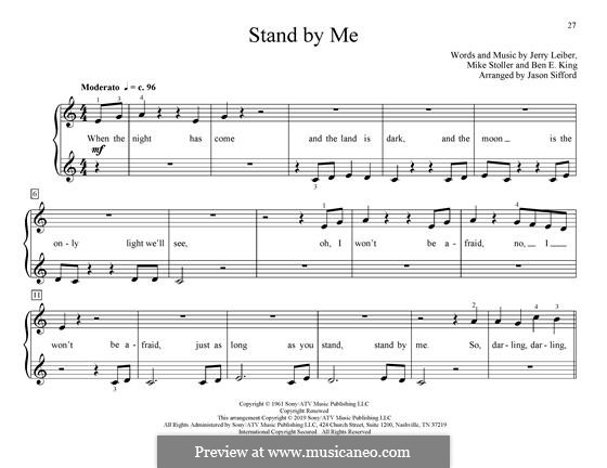 Stand By Me, for Piano: Для одного исполнителя by Ben E. King, Jerry Leiber, Mike Stoller