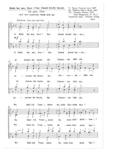 Пребудь со мной: Für gem. Chor, Op.16.2 by Уильям Генри Монк