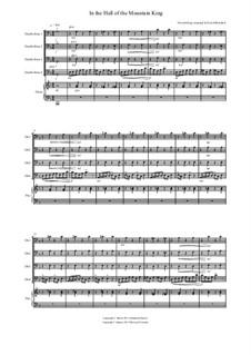Сюита No.1. В пещере горного короля, Op.46 No.4: For double bass quartet by Эдвард Григ