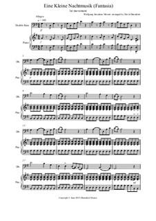Аллегро: For double bass and piano by Вольфганг Амадей Моцарт