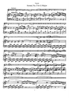 Соната No.5 соль мажор: Партитура by Йозеф Гайдн