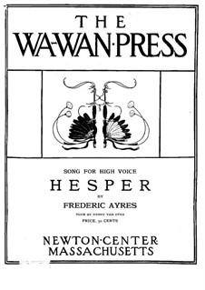 Hesper, Op.6 No.2: Hesper by Frederic Ayres