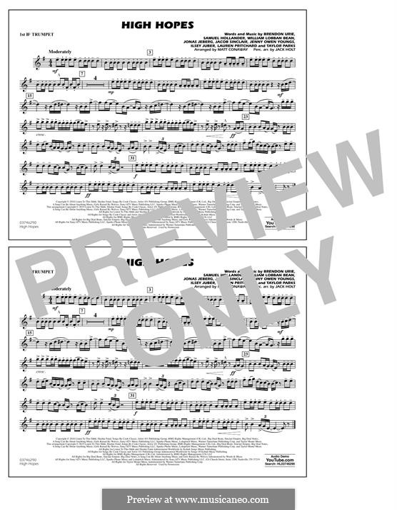High Hopes (Panic! At The Disco): 1st Bb Trumpet part by Brendon Urie, Jonas Jeberg, Sam Hollander, Jacob Sinclair, William Lobban-Bean