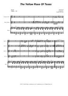 The Yellow Rose of Texas: For clarinet choir and piano by folklore
