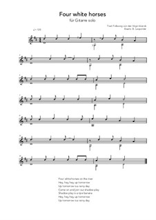 Four white horses: For guitar solo (D Major) by folklore