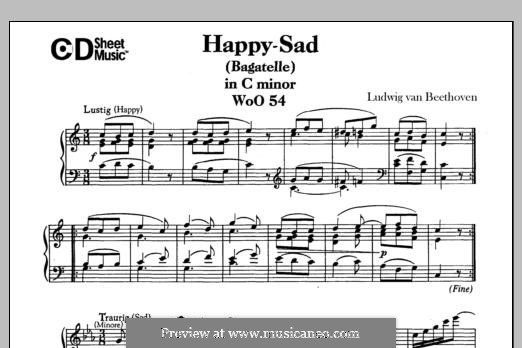 Lustig-Traurig (Happy-Sad), WoO 54: Для фортепиано by Людвиг ван Бетховен