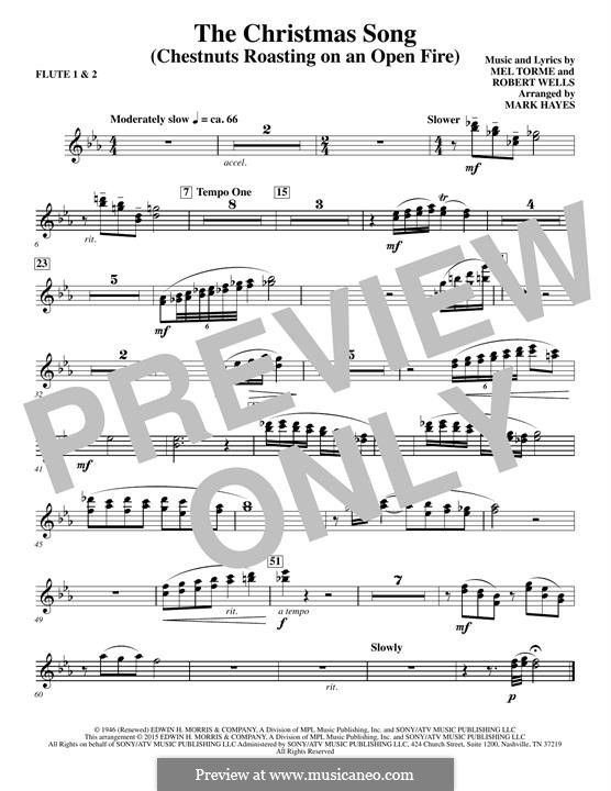Choir Instrumental Pak version: Flute 1,2 part by Mel Tormé, Robert Wells