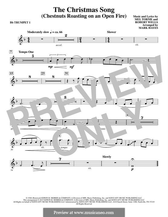 Choir Instrumental Pak version: Bb Trumpet 1 part by Mel Tormé, Robert Wells