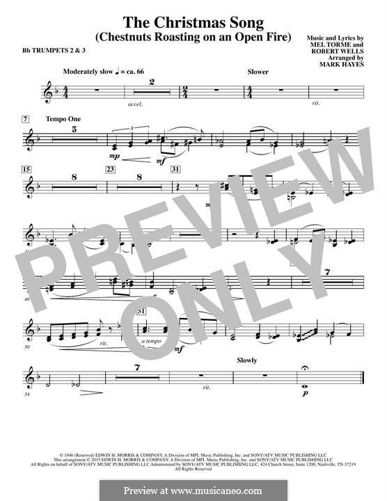 Choir Instrumental Pak version: Bb Trumpet 2,3 part by Mel Tormé, Robert Wells
