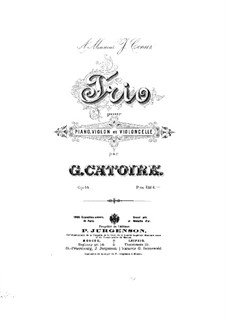 Фортепианное трио фа минор, Op.14: Партитура by Георгий Катуар