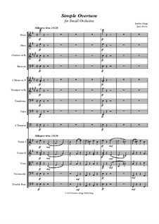 Simple Overture for Small Orchestra: Simple Overture for Small Orchestra by Jordan Grigg