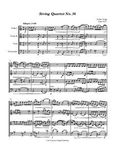 String Quartet No.36: String Quartet No.36 by Jordan Grigg