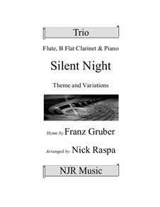 Тихая ночь (ноты для скачивания): Trio for flute, clarinet and piano by Франц Ксавьер Грубер
