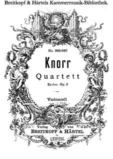 Фортепианный квартет ми-бемоль мажор, Op.3: Партия виолончели by Ivan Knorr