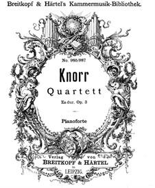 Фортепианный квартет ми-бемоль мажор, Op.3: Партитура by Ivan Knorr