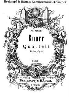 Фортепианный квартет ми-бемоль мажор, Op.3: Партия альта by Ivan Knorr