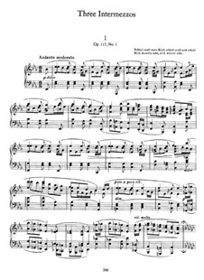 Три интермеццо, Op.117: Intermezzo No.1 by Иоганнес Брамс
