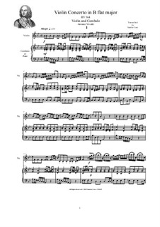 Concerto for Violin, Strings and Cembalo in B flat major, RV 364: Version for violin and cembalo (or piano) by Антонио Вивальди