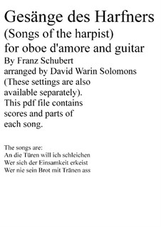 Complete set: For oboe d'amore and guitar by Франц Шуберт