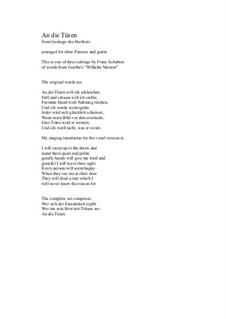 No.3 An die Türen will ich schleichen: For oboe d'amore and guitar by Франц Шуберт
