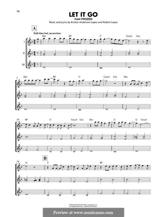 Instrumental version: For ukulele trio by Robert Lopez, Kristen Anderson-Lopez