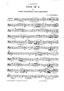 Трио для флейты, виолончели и фортепиано: Партия виолончели by Sir George Alexander Macfarren