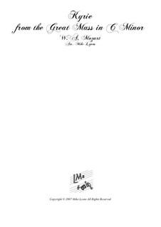 Большая месса до минор, K.427, K.417a: Kyrie, for brass band by Вольфганг Амадей Моцарт