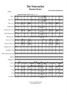 No.4 Русский танец (Трепак): For full orchestra by Петр Чайковский