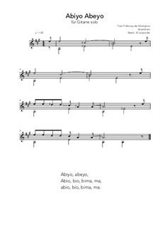 Abiyo Abeyo: For guitar solo (A Major) by folklore