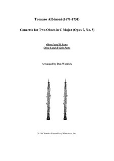 Concerto No.5 in C Major: Version for two oboes and string orchestra – solo by Томазо Альбинони