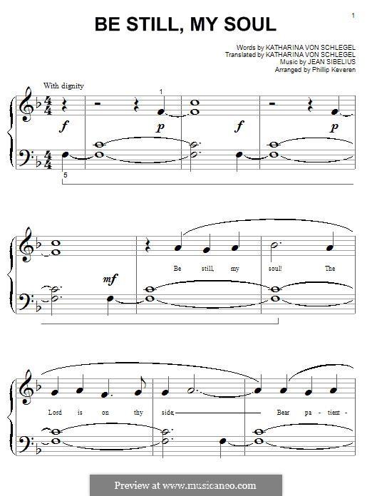Be Still My Soul: Для фортепиано by Ян Сибелиус