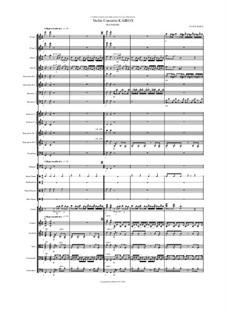Violin Concerto Kairos for violin and orchestra: III Ananke – score by Hans Bakker