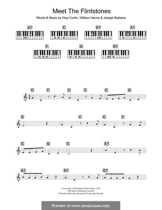(Meet the) Flintstones: Для фортепиано by William Hanna, Hoyt Curtin, Joseph Barbera