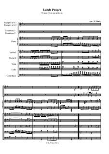 Отче наш: For instrumental ensemble by folklore