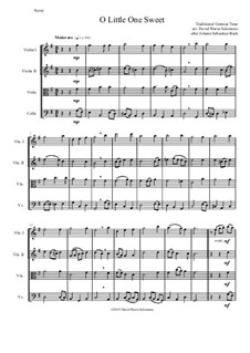 O Little One Sweet for string quartet: O Little One Sweet for string quartet by Иоганн Себастьян Бах, folklore
