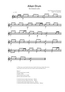 Aiken Drum: For guitar solo (C Major) by folklore
