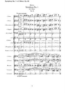 Вся симфония: Партитура by Иоганнес Брамс
