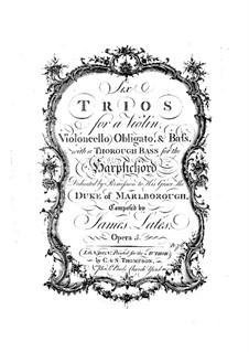 Шесть трио-сонат, Op.5: Партии by Джеймс Лейтс