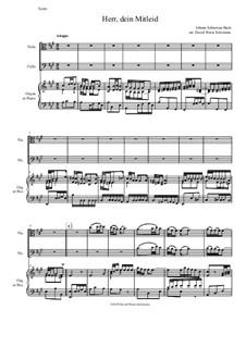Рождественская оратория, BWV 248: Herr dein Mitleid, arranged for viola, cello and organ (or piano) by Иоганн Себастьян Бах