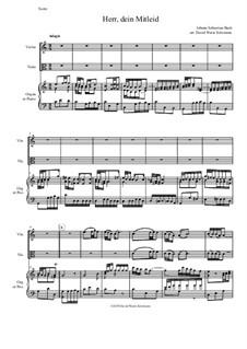 Рождественская оратория, BWV 248: Herr dein Mitleid, arranged for violin, viola and organ (or piano) by Иоганн Себастьян Бах