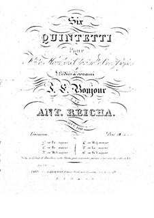 Квинтет для духовых инструментов фа мажор, Op.100 No.1: Партии by Антон Рейха